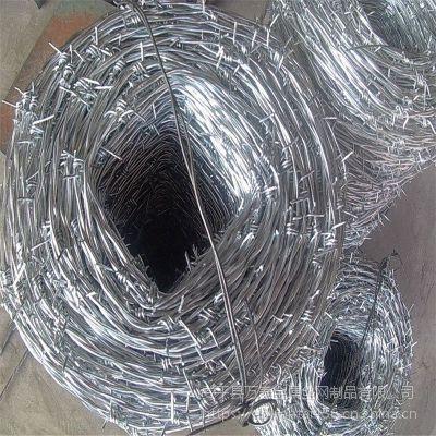 带刺刺绳网 林地防护铁丝 刺绳Y型柱
