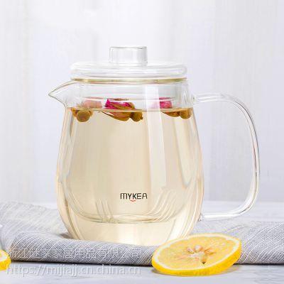 谜家/MYKEA 550ml高硼硅耐热玻璃小花茶壶BH179201