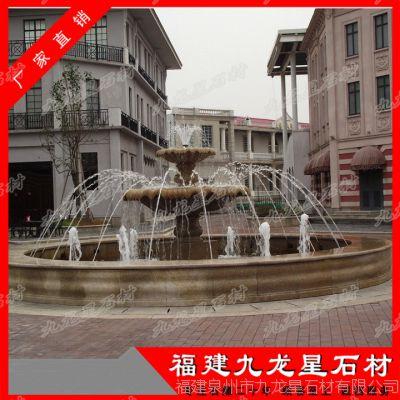 小区水景雕塑 石雕喷泉 花岗岩水钵
