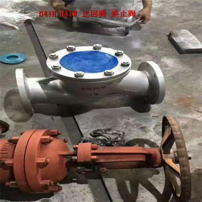 化工防腐不锈钢止回阀 H41W-25P 弹簧升降式止回阀 DN65 单向阀供应商