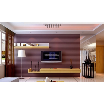 时尚大厅电视背景墙装饰板立体造型板直条纹专业定制