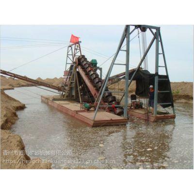 南美河道淘金设备 玻利维亚水面洗选淘金船hc
