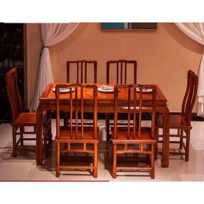 春节特价 厂家供应红木家具餐厅餐桌配套 名琢世家品牌