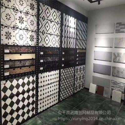 装饰展厅冲孔板@南昌瓷砖展示板@杭州展板展示架