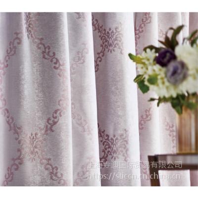 供应日本进口丽彩涤纶窗帘遮光印花窗纱 FD-52002