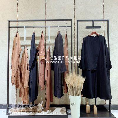 广州译然女装品牌折扣批发货源原创棉麻设计师品牌尾货