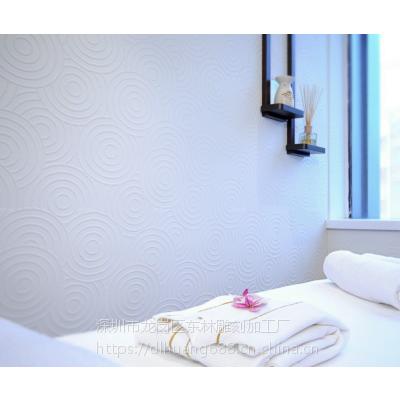 深圳板材厂家专业定制美容院简约背景墙装饰板波浪板