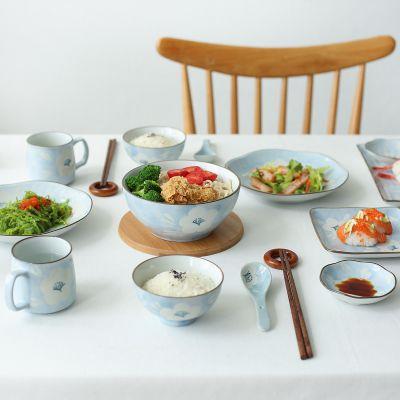 创意北欧碗筷套装 陶瓷餐具家用米饭碗碟盘 釉下彩西欧风格餐具