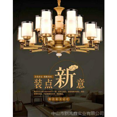 美式卧室全铜LED吸顶灯圆形温馨简约书房客厅灯家用现代房间灯具