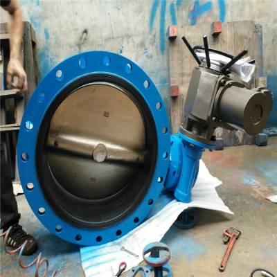 精小型电装电动不锈钢蝶阀 D941X-16P DN300 全通径中线电动法兰蝶阀