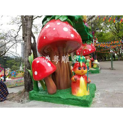 玻璃钢卡通动物卡通小男孩奇幻乐园游乐场门头雕塑