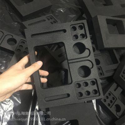 黑色内衬EVA海绵雕刻成型包装海绵防静电EVA阻燃泡棉