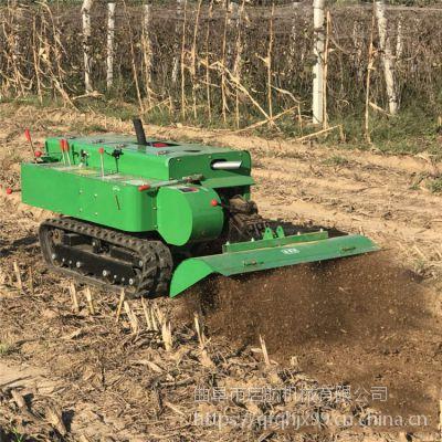 履带式果树施肥除草机 果园自走式挖沟机 启航履带排水开沟机型号