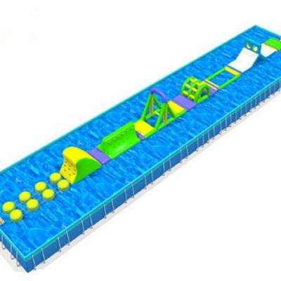 天津刺激好玩的大型水上充气闯关多少钱搭配支架水池使用