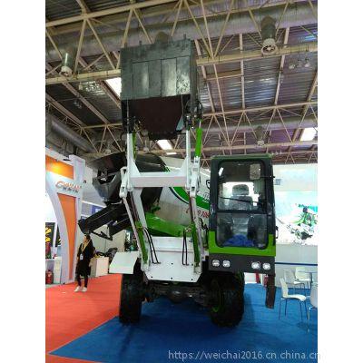 新疆4方全自动混泥土搅拌机车报价 能自行装料自行搅拌混凝土的车