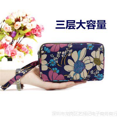 女士女式手机包手拿包小布零钱包钥匙布艺新款手包手机迷你大容量