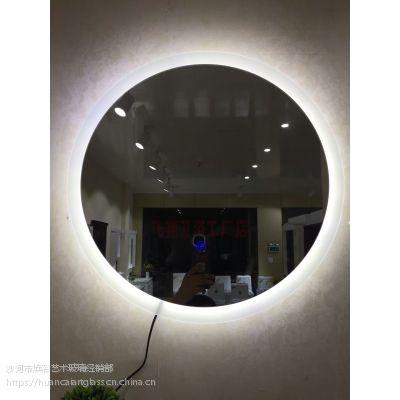 内蒙古鄂尔多斯厂家定制 星级酒店宾馆高端浴室带灯装饰镜子