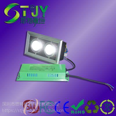 LED应急电源停电自动点亮消防应急照明双头射灯内置应急电源