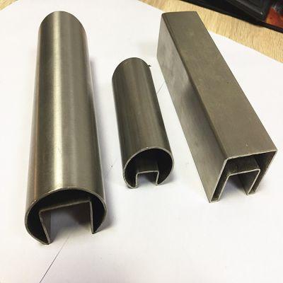 厂家直销.304不锈钢方矩管玻璃卡槽.槽管.方槽管
