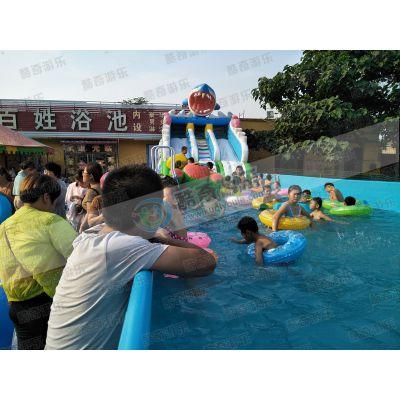 大象水上乐园 充气水池 充气滑梯定做