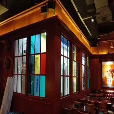 个旧彩色玻璃订做-个旧彩色玻璃-狼道玻璃