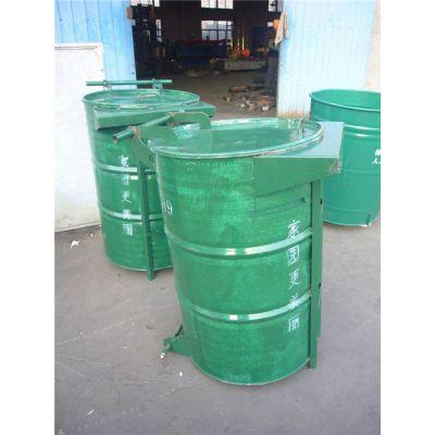 户外绿色铁皮垃圾桶生产-宁津建宏-户外绿色铁皮垃圾桶