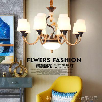 水晶欧式吊灯奢华大气客厅吊灯简欧餐厅灯锌合金别墅家用卧室灯具