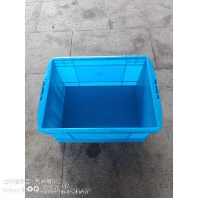供应465-260箱工厂专用周转箱可堆垛物料箱塑胶筐胶货架储物箱无锡徐州常州塑料箱子