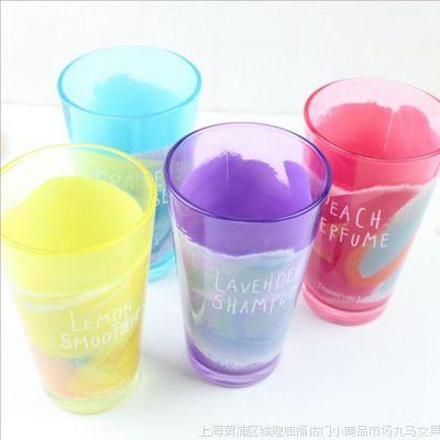 小马百货批发 青壹坊 炫彩玻璃杯 时尚水杯 居家用品 创意礼品杯