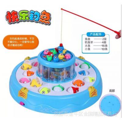 356盒装电动钓鱼爆款澄海四川玩具精品批发,双层电动益智新品