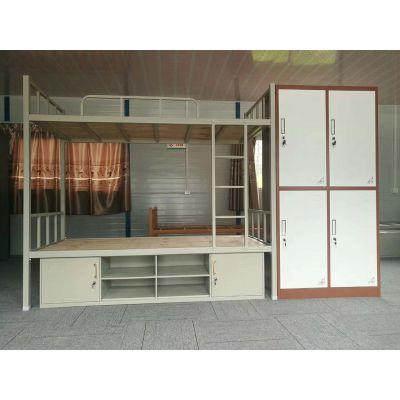 重庆带柜铁床 钢制架子床 学校 现代 宿舍铁架床 生产厂家