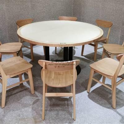 德阳市工业风菜馆家具定做,圆桌椅子组合实拍