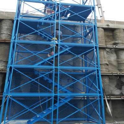 西双版纳安全爬梯 大理高墩施工爬梯 安全爬梯尺寸 通达建筑爬梯