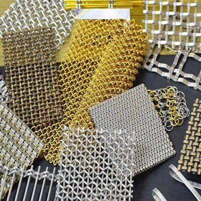 会议室金属装饰网帘 屏风隔断装饰网 金属网带