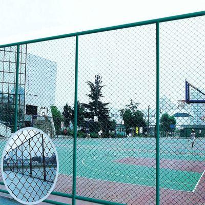 体育场围栏 绿色篮球场护栏 勾花护栏网