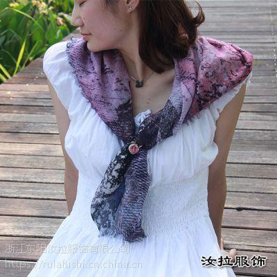 围巾工厂,浙江印花围巾加工厂,定制色彩灵动品质围巾-汝拉服饰
