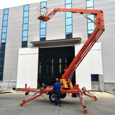 8米折臂式升降机 360度旋转可跨度作业升降平台厂家直销