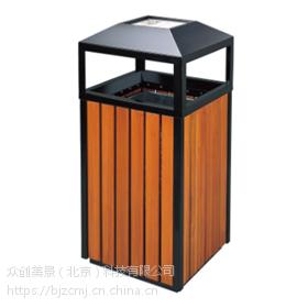 塑木户外钢木环卫双桶 垃圾桶 室外垃圾箱厂家批发 可定制