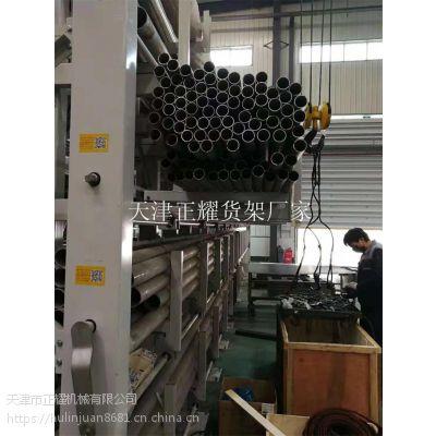 管材移动式货架 吊车存放移动的管材 存取方便 占地少