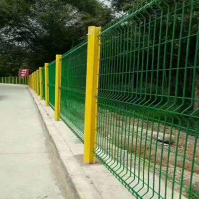 市政绿化桃型柱折弯护栏围网公园圈地护栏网园林防护护栏网