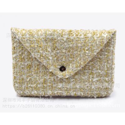专业大厂家订做 韩版生日编织布信封包 暗扣首饰礼品袋 贴牌批发