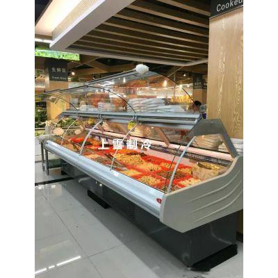 上雪定做前开放式熟食柜 昆明超市卤菜保鲜柜哪里有卖