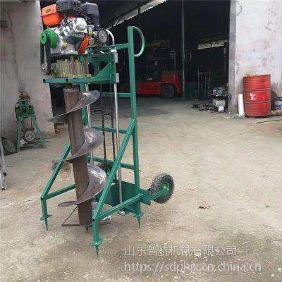 立柱施肥打洞机哪里有卖 后置式挖坑机 普航果蔬施肥打坑机