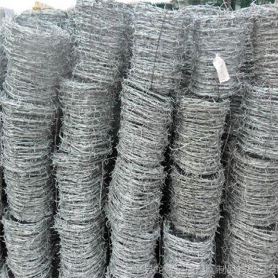 防护栅栏刺丝 刺丝延米重量 pvc包塑刺绳