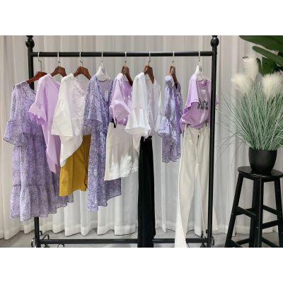 丽迪莎 2019夏装新款品牌折扣女装批发走份货源进货渠道 连衣裙