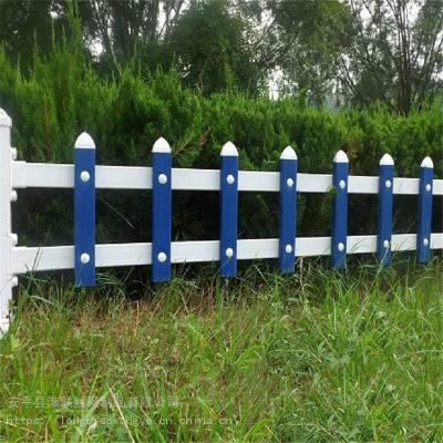 公园建设隔离带栏杆 仿木护栏价格 草池隔离护栏