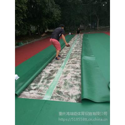 """篮球场PVC室外塑胶地板石家庄""""英利奥""""牌钻石纹5mm厚YLO-2588型卷材"""