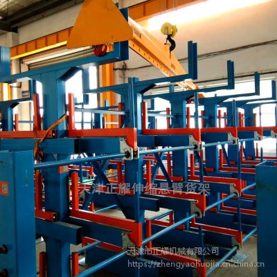 南通放钢管的货架 伸缩悬臂货架图纸 钢材库专用