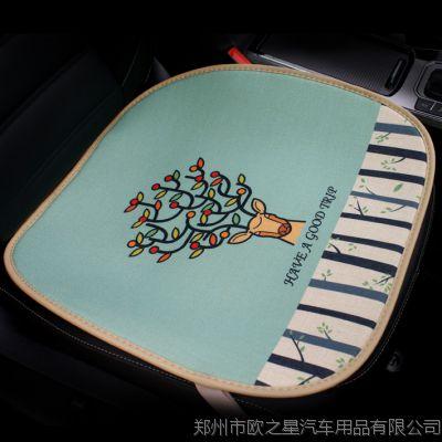 汽车前排坐垫卡通单片 四季通用座垫无靠背可爱汽车内饰用品