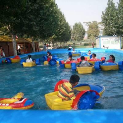 公园儿童玩具水上摇摇船哪里有卖单人手摇船厂家直销